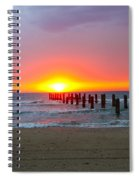 Remains Of A Wharf At Sunset Spiral Notebook