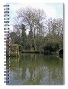 Remains Of Old Bridge Warwick Spiral Notebook