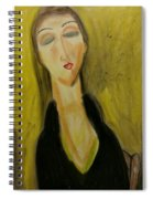 Sophisticated Lady With The Dreamy Eyes Spiral Notebook