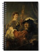 Rembrandt And Saskia In The Parable Of The Prodigal Son Spiral Notebook