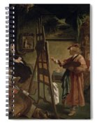 Rembrandt In His Studio Spiral Notebook