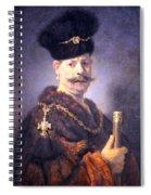 Rembrandt's A Polish Nobleman Spiral Notebook