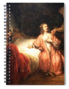 Rembrandt's Joseph Accused By Potiphar's Wife Spiral Notebook