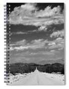 Remote Desert Road To Mountains Spiral Notebook