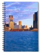 Renaissance Center, Detroit, Sunrise Spiral Notebook