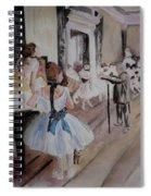Dance Class By Degas Spiral Notebook