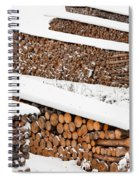 Renewable Heat Source Firewood Stacked In Winter Spiral Notebook