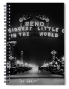 Reno Nevada The Biggest Little City In The World. The Arch Spans Virginia Street Circa 1936 Spiral Notebook