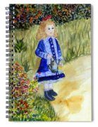 Renoir Girl With Watering Can In Watercolor Spiral Notebook