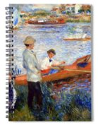 Renoir's Oarsmen At Chatou Spiral Notebook