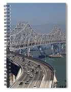 Replacement Of The Easter Span San Francisco Oakland Bay Bridge From Yerba Buena Island Oct 9th 2011 Spiral Notebook