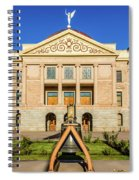 Replica Of Liberty Bell In Front Spiral Notebook
