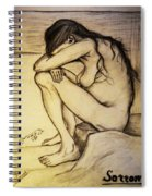 Replica Of Vincent's Drawing - Sorrow Spiral Notebook