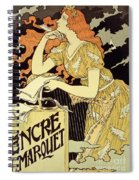 Reproduction Of A Poster Advertising 'marquet Ink' Spiral Notebook