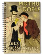 Reproduction Of A Poster Advertising Mothu And Doria In Impressionist Scenes Spiral Notebook