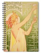 Reproduction Of A Poster Advertising 'robette Absinthe' Spiral Notebook