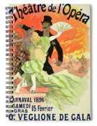 Reproduction Of A Poster Advertising The 1896 Carnival At The Theatre De L'opera Spiral Notebook