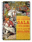 Reproduction Of A Poster Advertising The Fetes De Paris Spiral Notebook