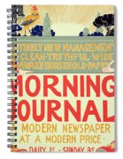 Reproduction Of A Poster Advertising The Morning Journal Spiral Notebook