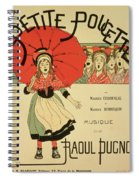 Reproduction Of A Poster Advertising The Operetta La Petite Poucette Spiral Notebook