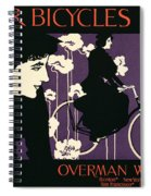 Reproduction Of A Poster Advertising Victor Bicycles Spiral Notebook
