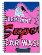 Elephant Super Car Wash Sign Seattle Washington Spiral Notebook