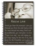 Rescue Love Adoption Spiral Notebook