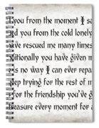 Rescue Love Spiral Notebook