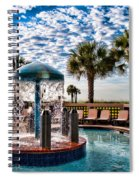 Resort Pool Spiral Notebook