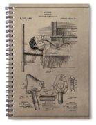 Respirator Patent Illustration 1911 Spiral Notebook