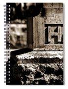 Rest Hart Bw Spiral Notebook