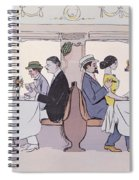 Restaurant Car In The Paris To Nice Train Spiral Notebook
