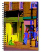Restaurant El Pintxo Rue Roy Plateau Montreal Basque Food Spanish Cafe City Scene Art Carole Spandau Spiral Notebook