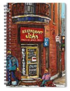 Restaurant John Spiral Notebook