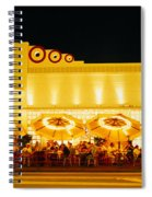 Restaurant Lit Up At Night, Miami Spiral Notebook