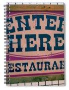 Restaurant Sign Color Spiral Notebook