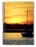 Resting In A Mango Sunset Spiral Notebook