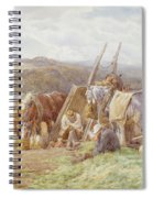 Resting In The Field  Spiral Notebook