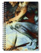 Resting With Texture Square Spiral Notebook