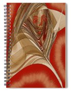 Resting Woman - Portrait In Red Spiral Notebook