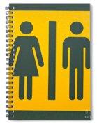 Restroom Sign Symbol For Men And Women Spiral Notebook