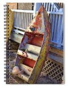 Retired Amusement Ride Boat Spiral Notebook