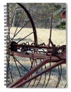 Retired Hay Rake Spiral Notebook