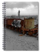 Retired Mining Ore Cars Spiral Notebook
