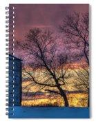Retired Silo Watching Sunset Spiral Notebook