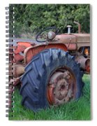 Retired Tractor Spiral Notebook