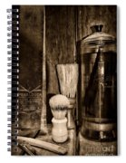 Retro Barber Tools In Black And White Spiral Notebook