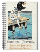 Retro Bathing Apparel Sign Spiral Notebook