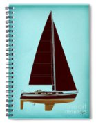 Retro Blue Sailing Spiral Notebook