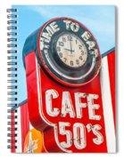 Retro Cafe Spiral Notebook